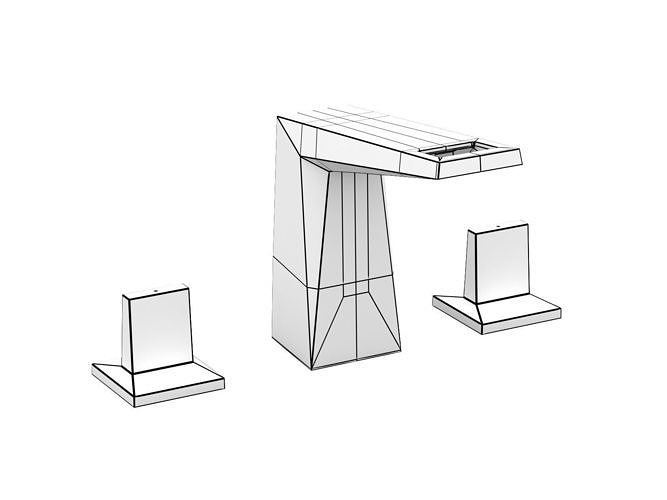 cube wall hung basin 60 set 3d model Contemporary Top Bathroom Remodeling Trends In Houston