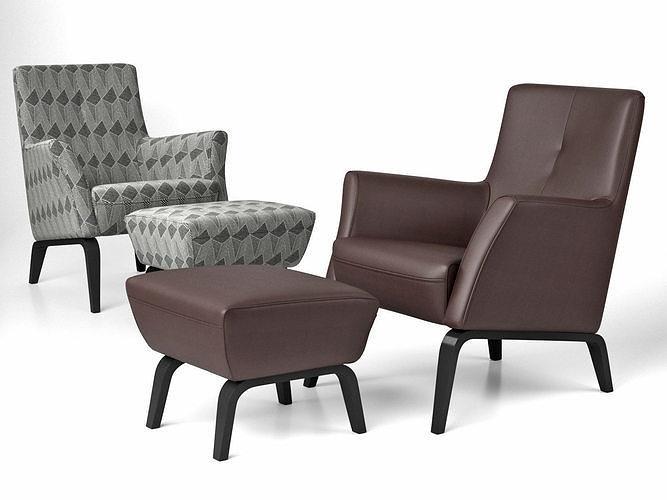 palio armchair low  pouf 3d model max obj mtl fbx c4d skp mxs 1