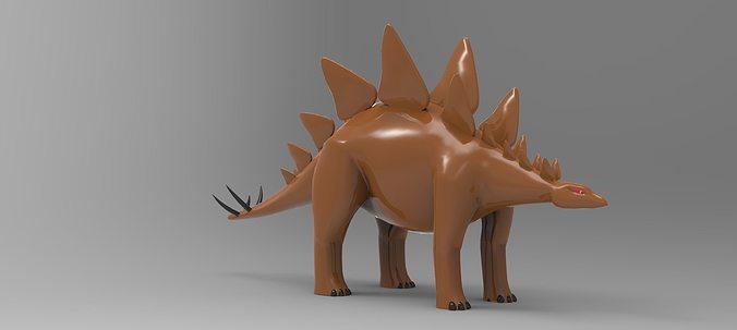 stegosaurus 3d model max obj mtl 3ds stl 1