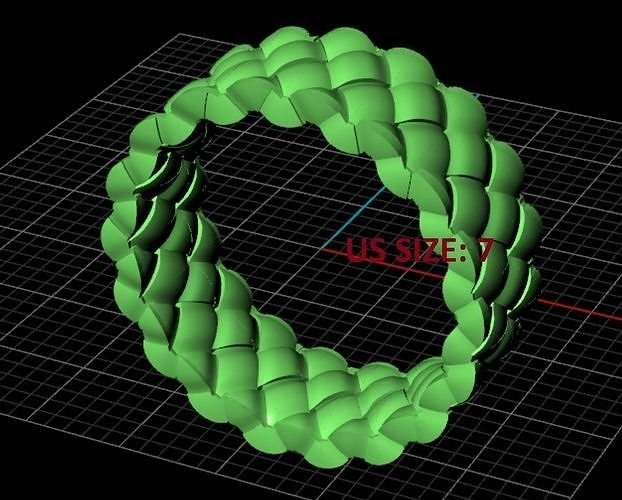 braided ring 3d model stl 3dm 1