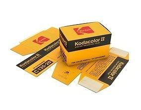 3D 1977 Kodacolor II C 135-20 Color Negative Film Box