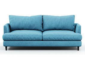 3D model Soft sofa fabric blue