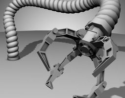 Robot Mechanic Arm - style three 3D Model
