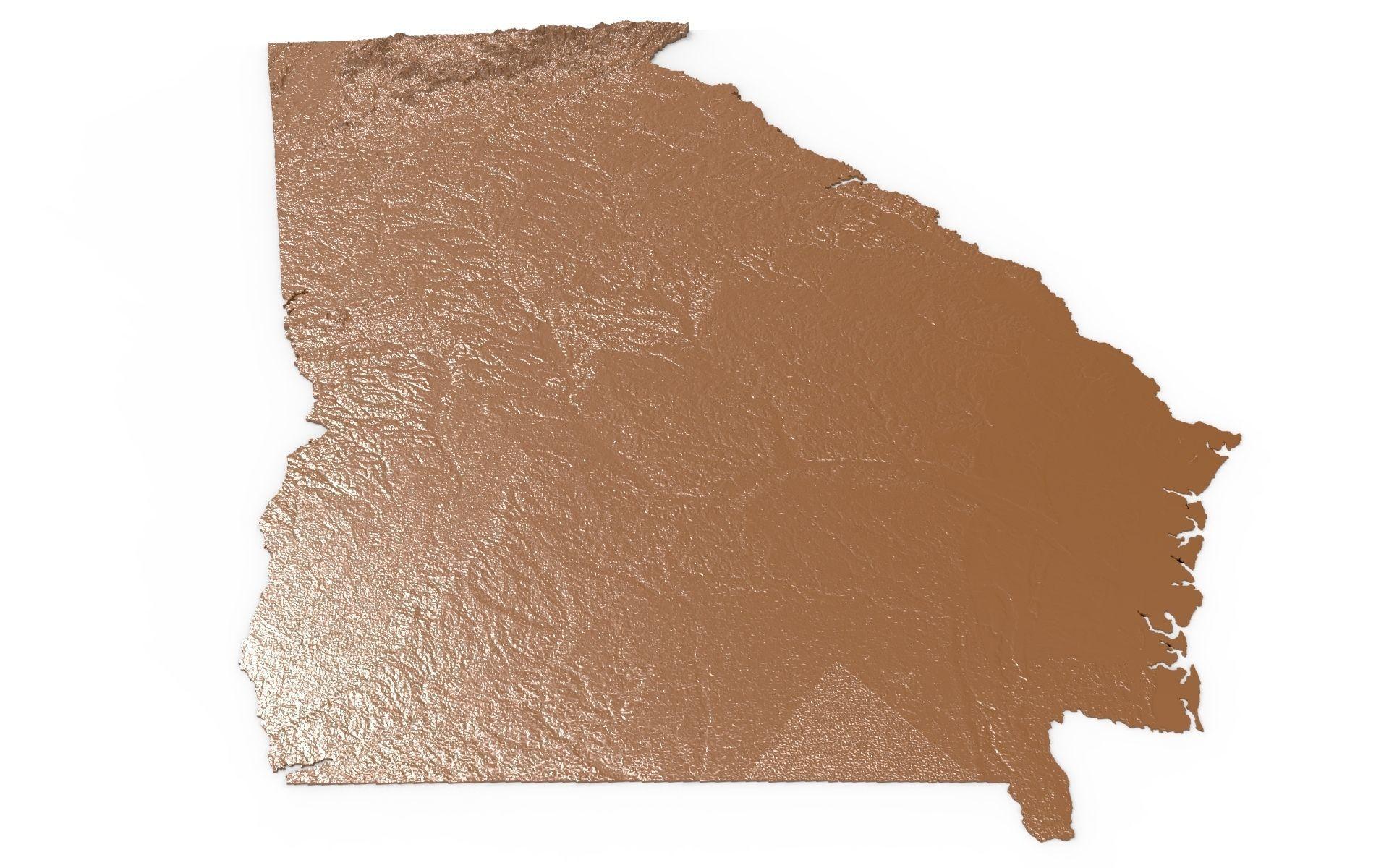 Georgia Relief Map