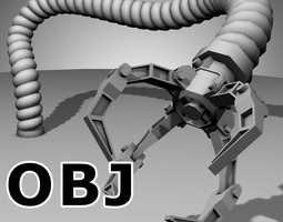 Robot Mechanic Arm (OBJ) - (style three) 3D Model
