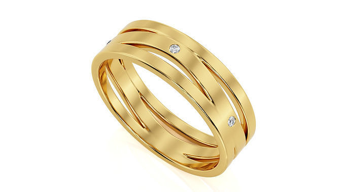 ring band r ba 0026 3d model obj mtl 3ds stl 3dm 1