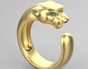 3D printable model ring panther