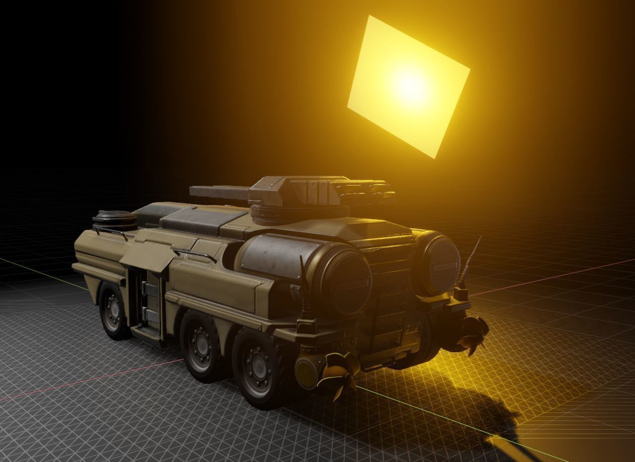 Amphibious Tank in Blender28