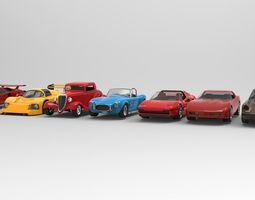 Car collection 4 3D model game-ready