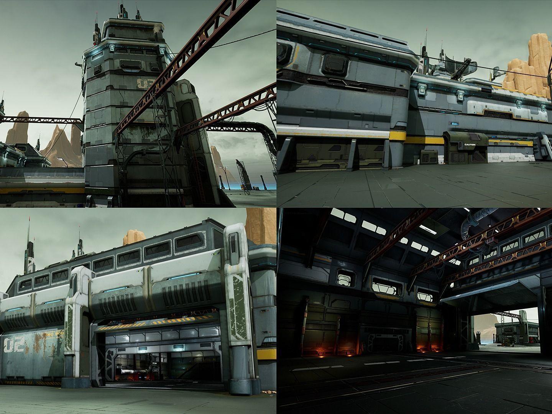 Modular Sci-Fi Hangars Location