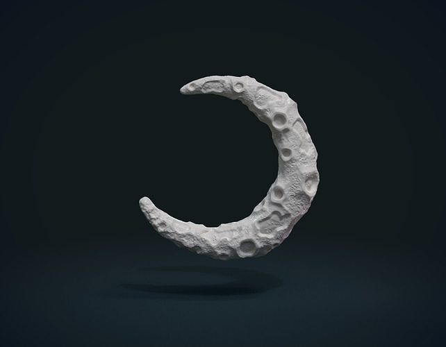 crescent ii 3d model obj mtl fbx stl blend dae 1