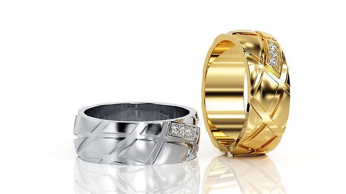 ring band r ba 0028 3d model obj mtl 3ds stl 3dm 1