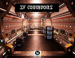 3D asset SF Corridors for Unreal