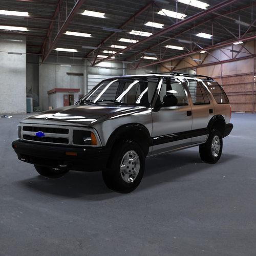 chevrolet s10 blazer 1995 3d model obj 1