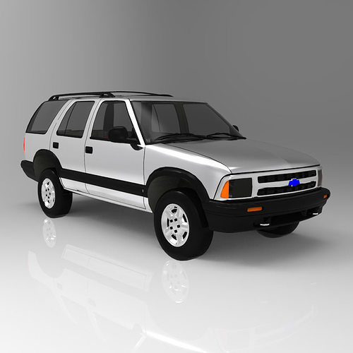 chevrolet s10 blazer 1995 3d model obj 7