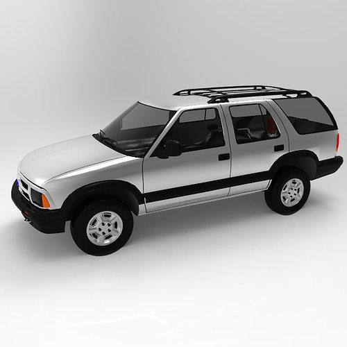 chevrolet s10 blazer 1995 3d model obj 3