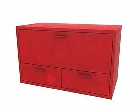 Red cabinet 3D asset