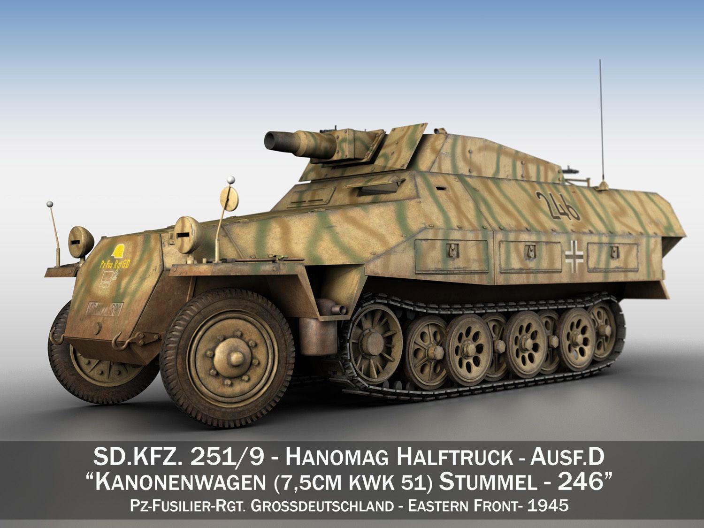 3d Model Sdkfz 251 Ausf D Stummel 246 Cgtrader