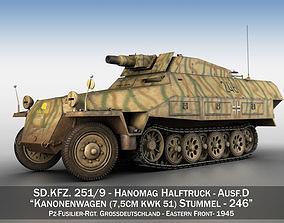 3D model SDKFZ 251 - Ausf D - Stummel - 246
