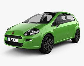 3D model Fiat Punto TwinAir 5-door 2012