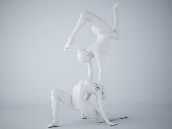 two-person yoga pose 005 3d model stl 1
