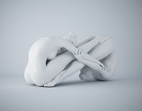 Two-Person yoga pose 007 3D printable model