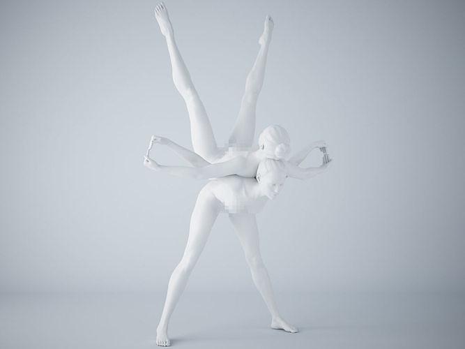 two-person yoga pose 011 3d model stl 1