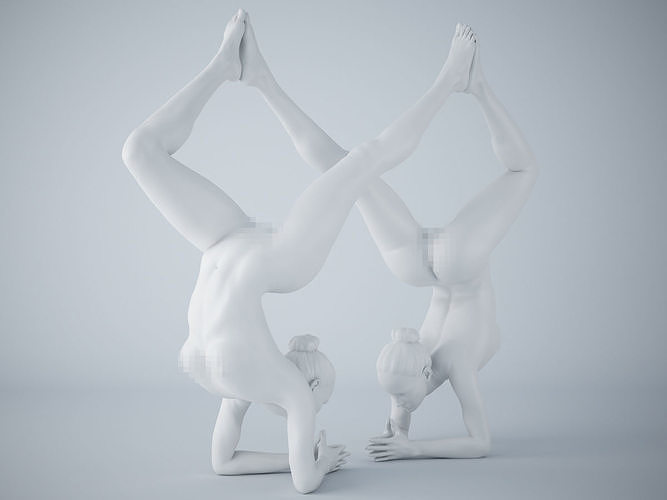 two-person yoga pose 013 3d model stl 1