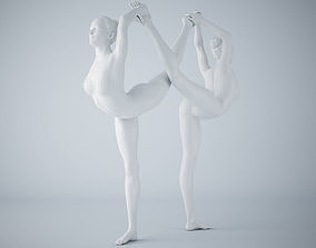 3D print model Two-Person yoga pose 014