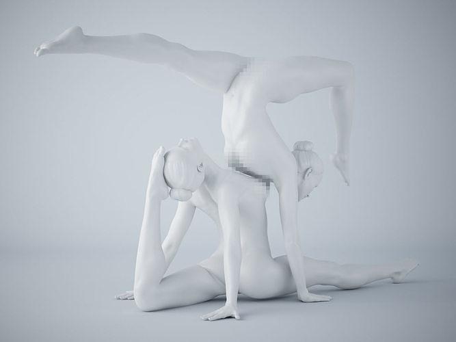 two-person yoga pose 018 3d model stl 1