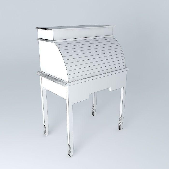 secretary newport maisons du monde 3d model max obj 3ds fbx stl dae. Black Bedroom Furniture Sets. Home Design Ideas