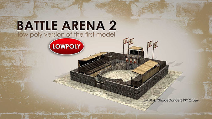 battle arena v2 3d model max obj mtl 3ds fbx c4d dae 1