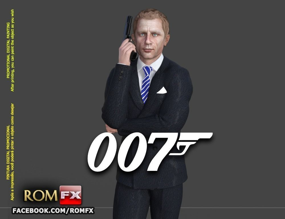 007 James Bond Daniel Craig - Printable Figure