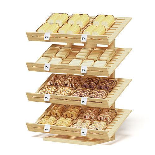 market shelf 3d model - bakery products 3d model max obj mtl fbx c4d 1