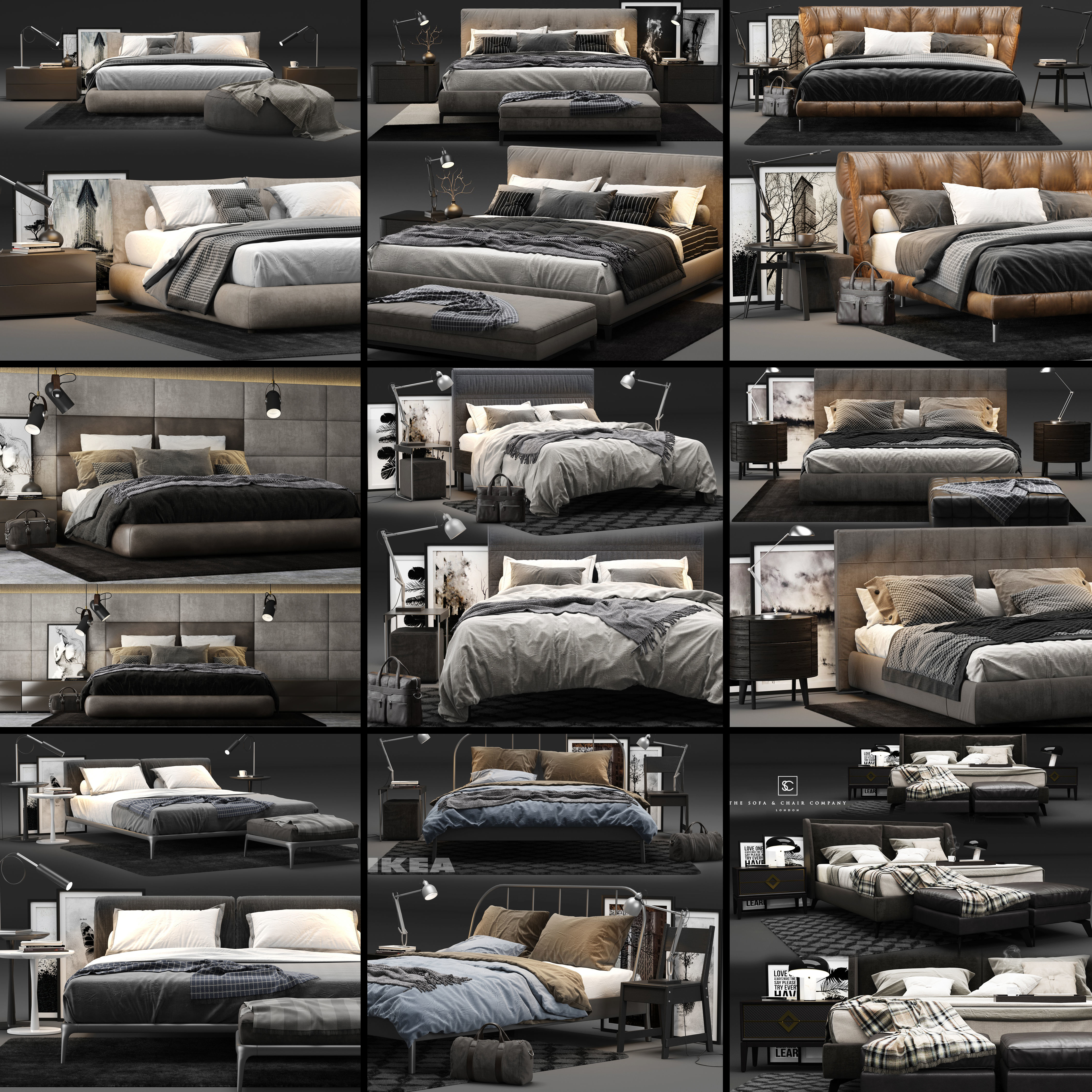 Bed Colection 03 - 10 Items