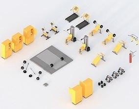 3D model Low Poly Gym