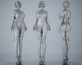 3D printable model Woman sculpture desktop bauble 003