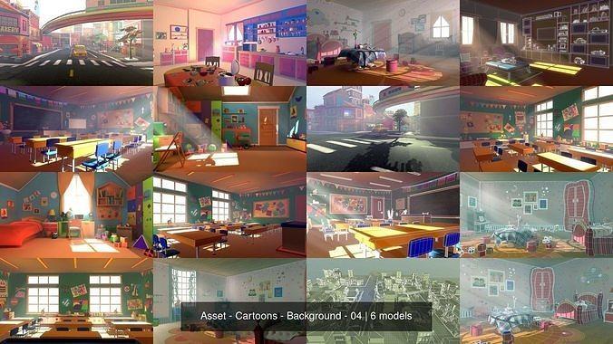 asset - cartoons - background - 04 3d model max obj mtl fbx ma mb hrc xsi tga 1