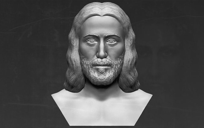 Jesus reconstruction based on Shroud of Turin 3D printing ready