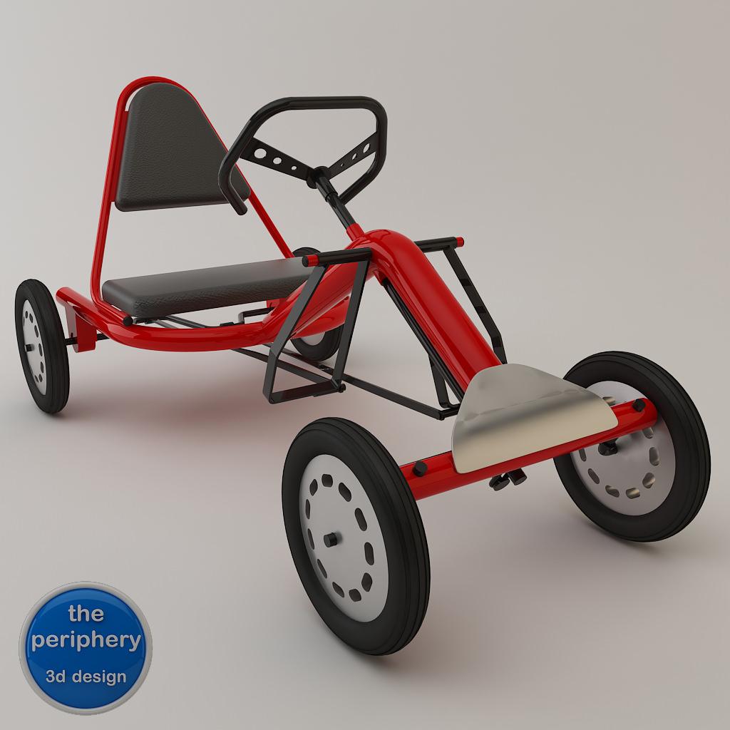 pedal karting tubular 3d models. Black Bedroom Furniture Sets. Home Design Ideas