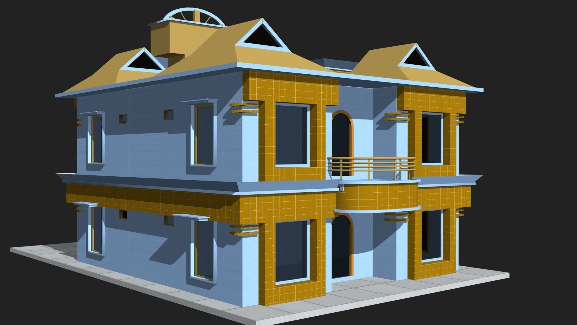 low poly 3d house building cgtrader