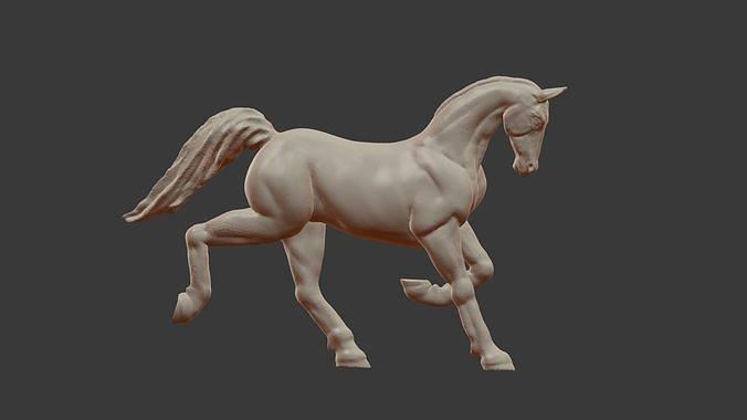 Sculpture of a running horse