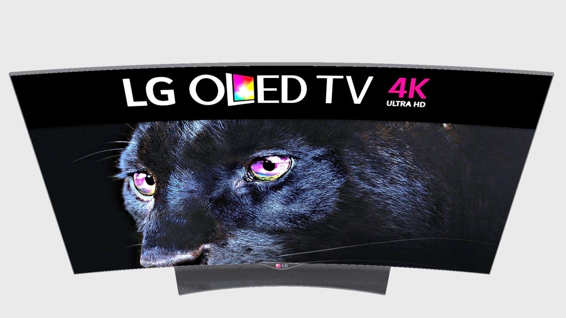 lg oled 4k tv 3d model max obj 3ds fbx. Black Bedroom Furniture Sets. Home Design Ideas
