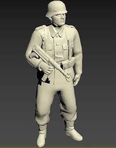 German infantry soldier WWII