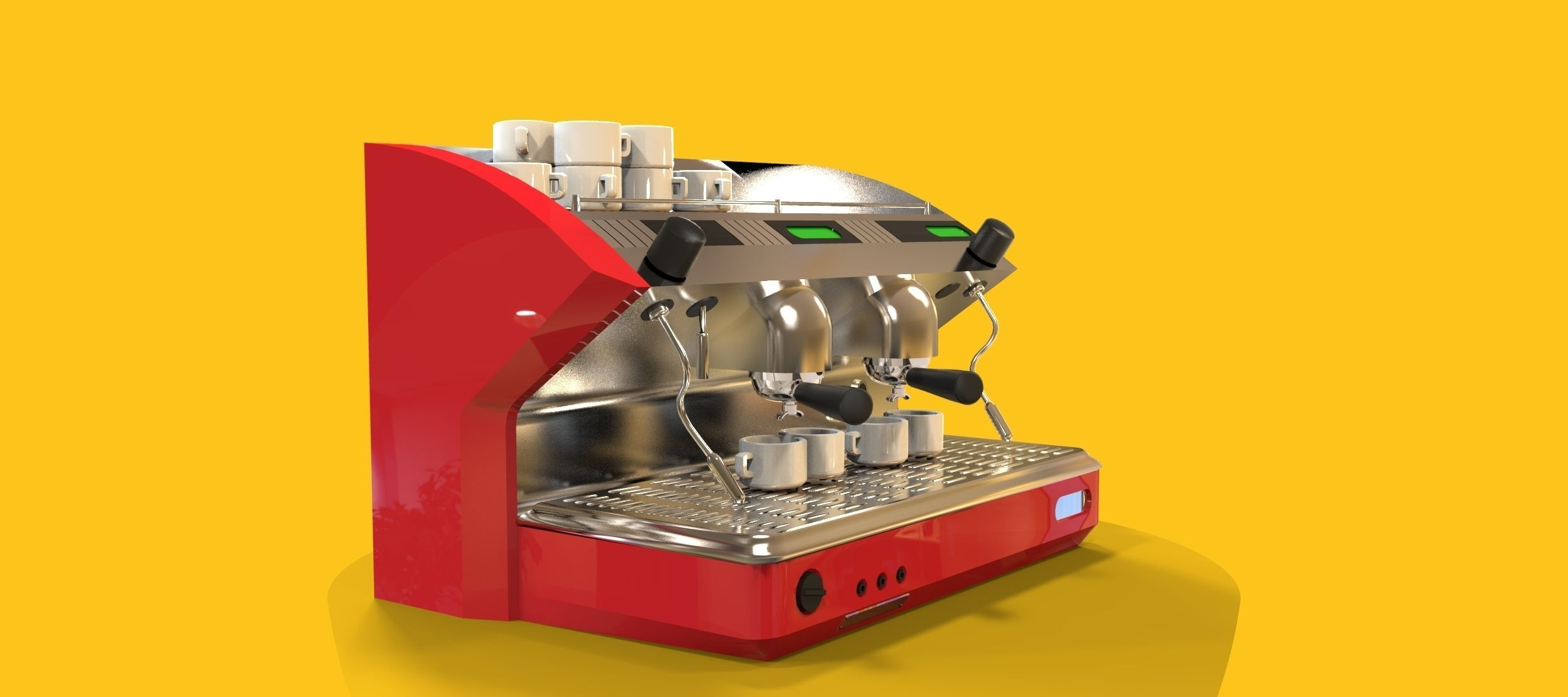 3d Model Coffee Maker Vr Ar Low Poly Max Obj 3ds Fbx