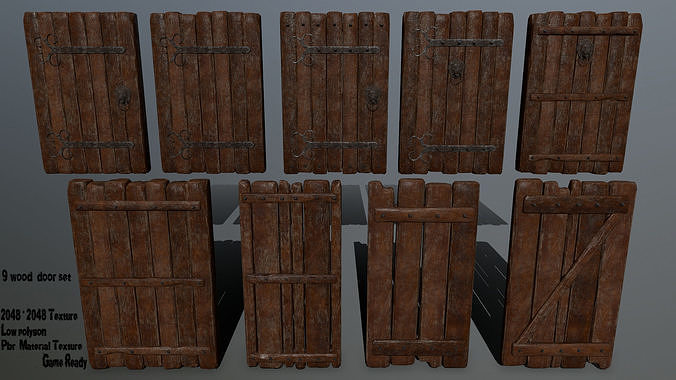 doors  3d model obj mtl fbx blend 1
