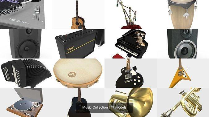 music collection 3d model 3ds fbx ma mb stl bip 1