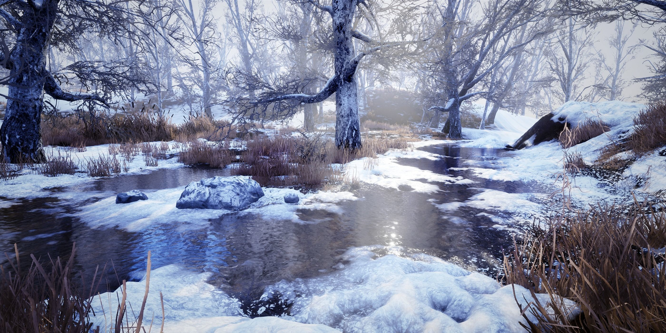 Dynamic Winter Environment Unreal Engine | 3D model