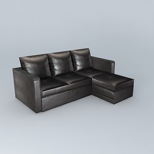 Brown sofa bed toronto 3d model max obj 3ds fbx stl dae for Sofa bed toronto