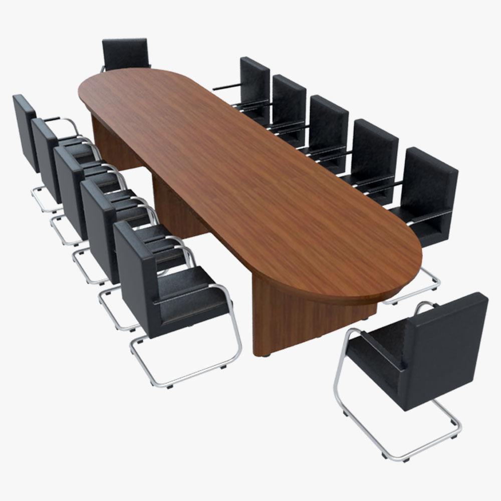 Conference Table With Chairs 1 3d Model Max Obj 3ds Fbx 1 ...